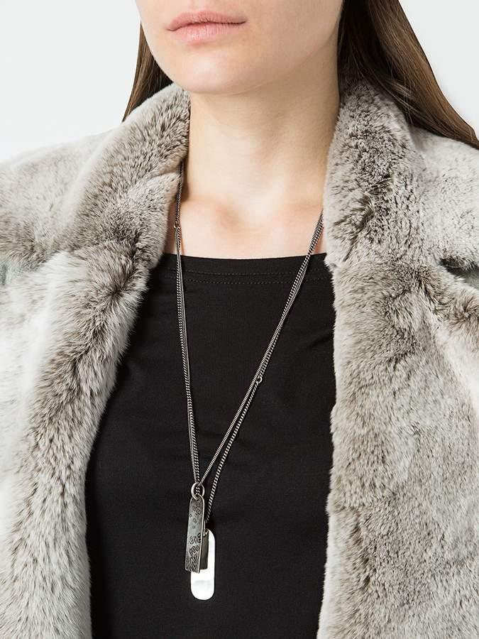 Werkstatt:Munchen double tag necklace