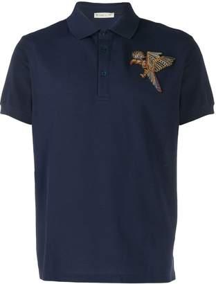 Etro Bird embroidered polo shirt