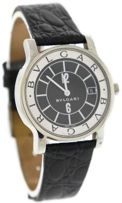 Bulgari Solotempo ST 35 S Stainless Steel & Black/White Dial 35mm Mens Watch