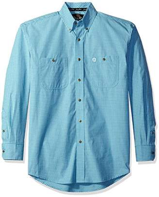 Wrangler Men's George Strait Two Pocket Long Sleeve Woven Shirt