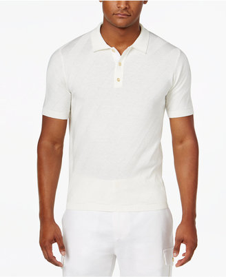 Sean John Men's Jacquard Stripe Sweater Polo, Only at Macy's $74.50 thestylecure.com