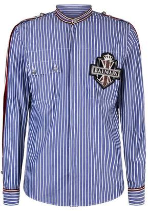 Balmain Stripe Patch Shirt