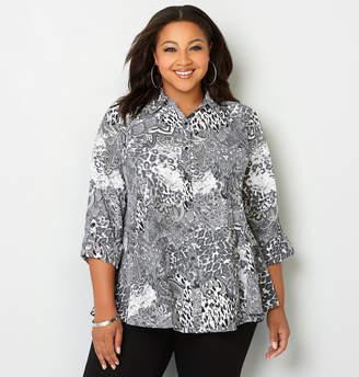 Avenue Mixed Print Swing Shirt