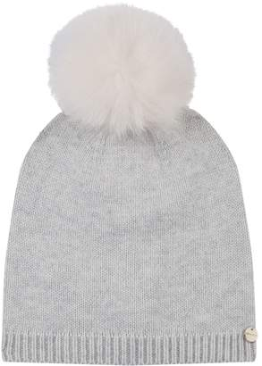 Yves Salomon Fox Fur Pompom Hat