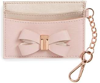 Ted Baker Meira Bow Leather Card Holder with Chain