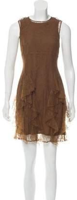 Burberry Sleeveless Lace Dress brown Sleeveless Lace Dress