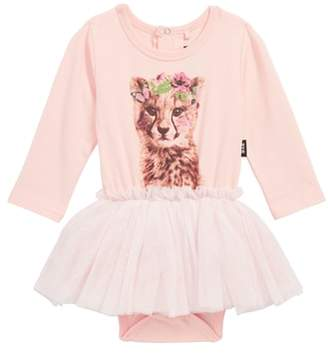 Rock Your Baby Floral Cheetah Circus Tutu Bodysuit