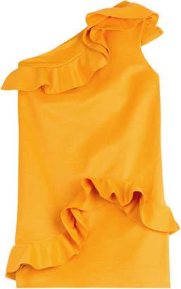 MSGM Asymmetric Dress with Ruffles