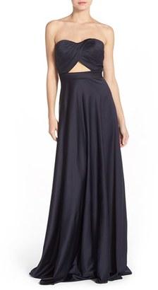 La Femme Cutout Satin Ballgown $349 thestylecure.com