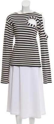 Celine Striped Cutout Sweater