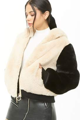Forever 21 SHACI Hooded Faux Fur Jacket