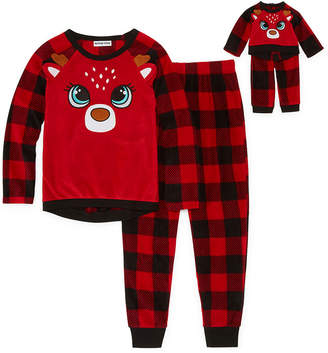 Asstd National Brand For Me and My Dream Doll 2-pc. Reindeer Pant Pajama Set - Girl