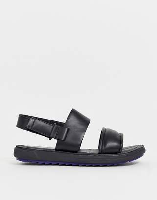 Camper marges leather chunky sandal in black