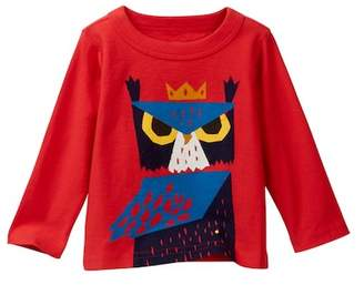 Tea Collection Horned Owl Graphic Tee (Baby Boys)