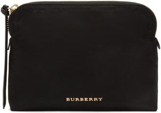 Burberry Black Logo Cosmetic Case