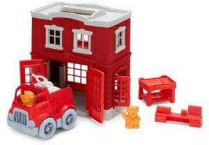 Green Toys Fire Station Toy Set