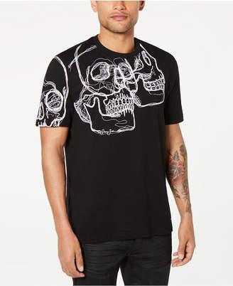 Sean John Men 3D Skull Graphic T-Shirt
