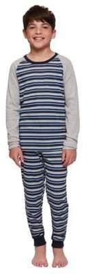 Dex Boy's Two-Piece Stripe Pajama Top Pants Set