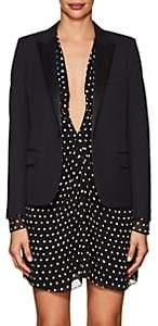 Saint Laurent Women's Wool Piqué Crop Blazer-Navy