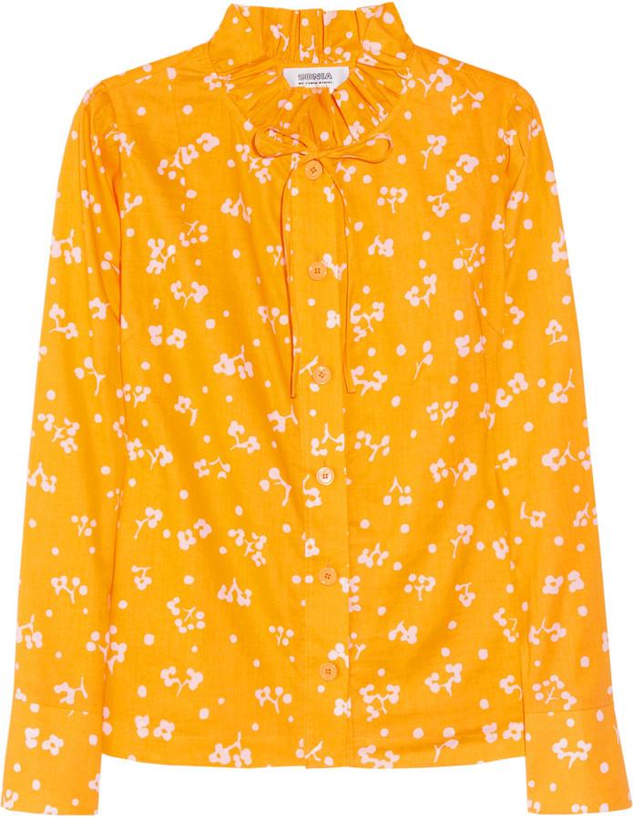 Sonia Rykiel Sonia by Printed cotton blouse