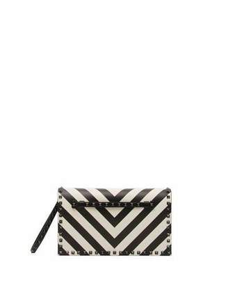 Valentino Rockstud V-Stripe Clutch Bag
