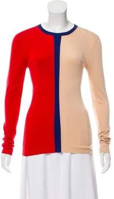 Celine Long Sleeve Colorblock Sweater