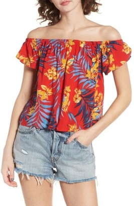Women's Rip Curl Tropicana Off The Shoulder Top $44 thestylecure.com