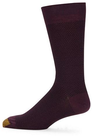 Goldtoe Diamond Embossed Crew Socks
