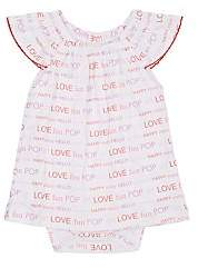 Lisa Perry Infants' Word-Print Cotton Dress - Pink