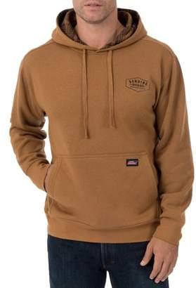 Dickies Genuine Mens Fleece Pullover with Flannel Lined Hoodie