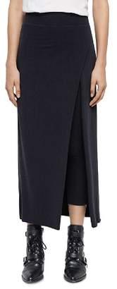 AllSaints Raffi Maxi Skirt Overlay Leggings