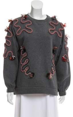 Stella McCartney Long Sleeve Embellished Sweater