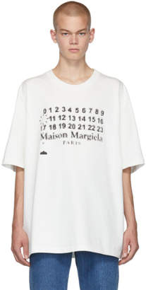 Maison Margiela White Oversized Logotype T-Shirt