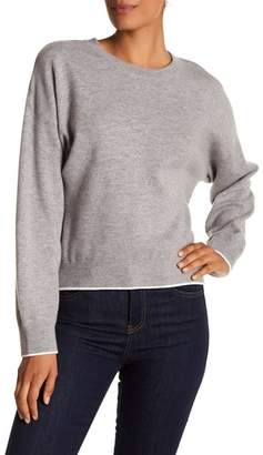 Vince Layered Trim Drop Shoulder Sweater