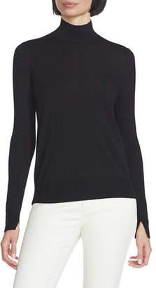 Lafayette 148 New York Fine-Gauge Merino Wool Split-Collar Sweater