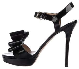 Valentino Patent High-Heel Sandals Black Patent High-Heel Sandals