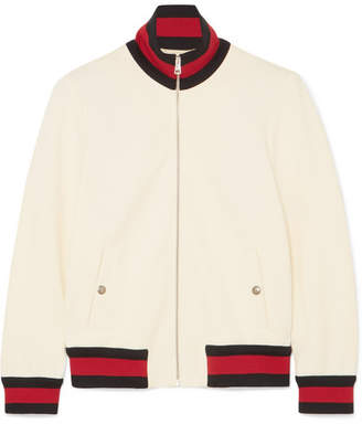 Gucci Twill Bomber Jacket - Ivory