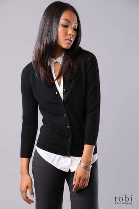 Vince Jewel Button Cardigan Sweater