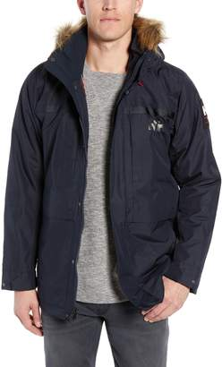 Helly Hansen Coastal 2 Regular Fit Waterproof Parka with Faux Fur Trim
