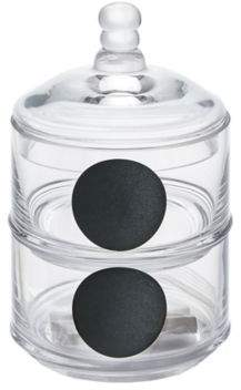 Chalk Board Stacking Glass Jar