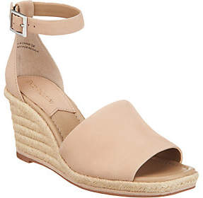 Enzo Angiolini Leather Espadrille Wedges- Petrina