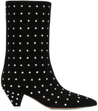 ATTICO Sofia embellished ankle boots