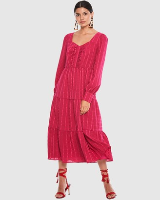 Talulah Flamenco Midi Dress