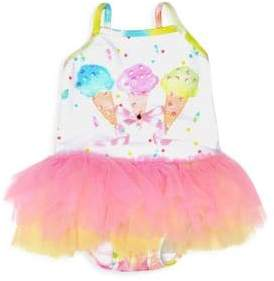 Kate Mack Baby Girl's & Little Girl's Ice Cream Tutu Swimsuit