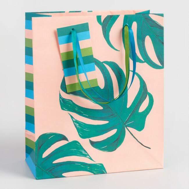 Medium Jungle Leaf Kraft Gift Bag