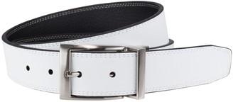 Nike Men's Black & White Stitched Reversible Leather Belt