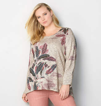Avenue Marled Floral Hacci Top