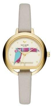 Kate Spade Critter Leather Strap Watch