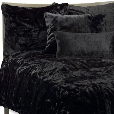 Bed Bath & Beyond Faux Fur Panther Duvet Cover Set - Black