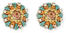 Jose & Maria Barrera Summer Button Clip-On Earrings